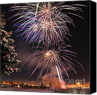 Solstice Canvas Prints - Winter Solstice Fireworks Canvas Print by Gary Whitton