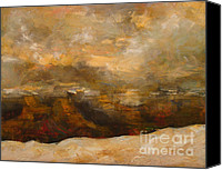 Snowed In Canvas Prints - Winter Sunset Over The Canyon Canvas Print by Walter Fahmy