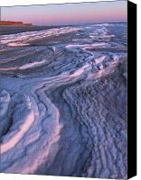 Tide Canvas Prints - Winter Tide on Plum Island Canvas Print by Juergen Roth