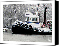 Dan Daulby Canvas Prints - Winter Tug Canvas Print by Dan Daulby