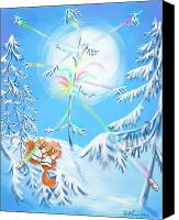 Winter Prints Canvas Prints - Winter Wonderland Canvas Print by Catherine Martha Holmes