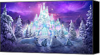 Scene Mixed Media Canvas Prints - Winter Wonderland Canvas Print by Philip Straub
