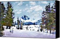 Simulation Canvas Prints - Winter Wonderland Canvas Print by Suni Roveto