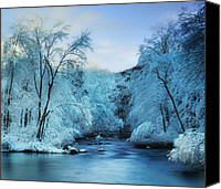 New England Canvas Prints - Winter Wonderland Canvas Print by Thomas Schoeller