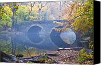 Fall Leaves Canvas Prints - Wissahickon Creek at Bells Mill Rd. Canvas Print by Bill Cannon