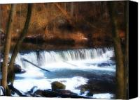 Valley Green Canvas Prints - Wissahickon Falls below Valley Green Canvas Print by Bill Cannon