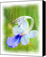 Judi Bagwell Canvas Prints - Wistful Flower Canvas Print by Judi Bagwell