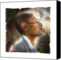 Profile Mixed Media Canvas Prints - With Each New Day . . . Canvas Print by Bob Salo