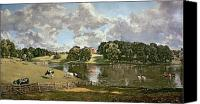 1776 Canvas Prints - Wivenhoe Park Canvas Print by John Constable