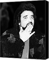 Vintage Photography Canvas Prints - Wolfman Jack  Canvas Print by Bob Orsillo