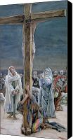 Virgin Mary Painting Canvas Prints - Woman Behold Thy Son Canvas Print by Tissot