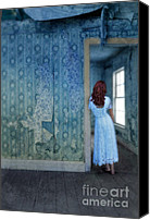 Old Abandoned House Canvas Prints - Woman in Abandoned House Canvas Print by Jill Battaglia