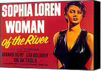 1955 Movies Canvas Prints - Woman Of The River, Aka La Donna Del Canvas Print by Everett