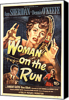 1950 Movies Canvas Prints - Woman On The Run, Poster Art, Ann Canvas Print by Everett