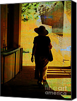 Annpowellart Canvas Prints - Woman with Hat Canvas Print by Ann Powell