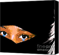 Faniart Africa America Canvas Prints - Womanhood and Motherland Canvas Print by Fania Simon