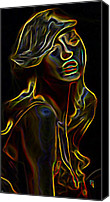 Walker Digital Art Canvas Prints - Womans Essence 23 Canvas Print by Byron Fli Walker