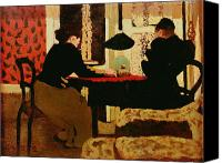 Discussion Canvas Prints - Women by Lamplight Canvas Print by vVuillard