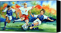 Sports Art Canvas Prints - Women Canvas Print by Hanne Lore Koehler