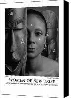 African American Female Canvas Prints - Women Of A New Tribe - Faces Canvas Print by Jerry Taliaferro