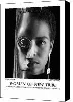 African American Female Canvas Prints - Women Of A New Tribe - Kim With Mask Canvas Print by Jerry Taliaferro
