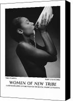 African American Female Canvas Prints - Women Of A New Tribe - Milk Maiden Canvas Print by Jerry Taliaferro