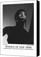 African American Female Canvas Prints - Women Of A New Tribe - Moon Kissed Canvas Print by Jerry Taliaferro
