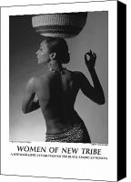 African American Female Canvas Prints - Women Of A New Tribe - Veronica with Basket Canvas Print by Jerry Taliaferro