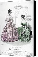 Hairstyle Canvas Prints - Womens Fashion, 1843 Canvas Print by Granger