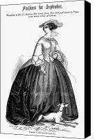 Whippet Canvas Prints - Womens Fashion, 1857 Canvas Print by Granger