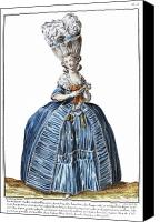 Hairstyle Canvas Prints - WOMENS FASHION, c1780 Canvas Print by Granger