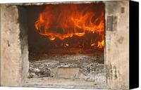 Fire Wood Canvas Prints - Wood fired oven Canvas Print by Gaspar Avila