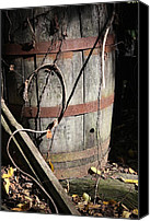 Metamora Canvas Prints - Wooden Barrel Canvas Print by Mike Lytle