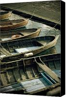 Lago Canvas Prints - Wooden Boats Canvas Print by Joana Kruse
