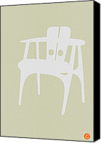 Rocking Chair Canvas Prints - Wooden Chair Canvas Print by Irina  March