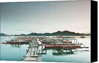 Filipino Canvas Prints - Wooden pier Canvas Print by MotHaiBaPhoto Prints