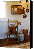 Wooden Bowls Photo Canvas Prints - Wooden Wares and Farm Life Canvas Print by Carmen Del Valle