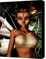 Faerie Canvas Prints - Woodland Fairy  Canvas Print by Alexander Butler