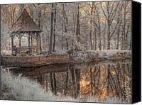 Foilage Canvas Prints - Woodland Gazebo Canvas Print by Jane Linders
