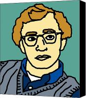 Caricature Canvas Prints - Woody Allen Canvas Print by Jera Sky