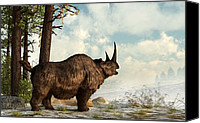 Ice Age Canvas Prints - Woolly Rhino Canvas Print by Daniel Eskridge