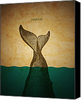 Jonah Canvas Prints - WordJonah Canvas Print by Jim LePage
