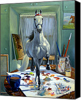 Horse Painting Canvas Prints - Work In Progress V Canvas Print by Jeanne Newton Schoborg