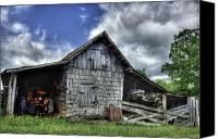 Barn Canvas Prints - Work is all done Canvas Print by Pete Hellmann