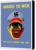 Gifts Digital Art Canvas Prints - Work To Win Or Youll Work For Him Canvas Print by War Is Hell Store