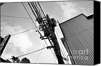 Power Lines Canvas Prints - Working Canvas Print by Dean Harte