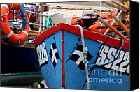 Sennen Canvas Prints - Working Harbour Canvas Print by Terri  Waters