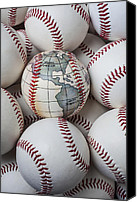 Ball Canvas Prints - World baseball Canvas Print by Garry Gay
