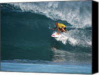 Kelly Slater Canvas Prints - World Champion in Action Canvas Print by Kevin Smith
