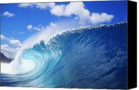 Seafoam Canvas Prints - World Famous Pipeline Canvas Print by Vince Cavataio - Printscapes